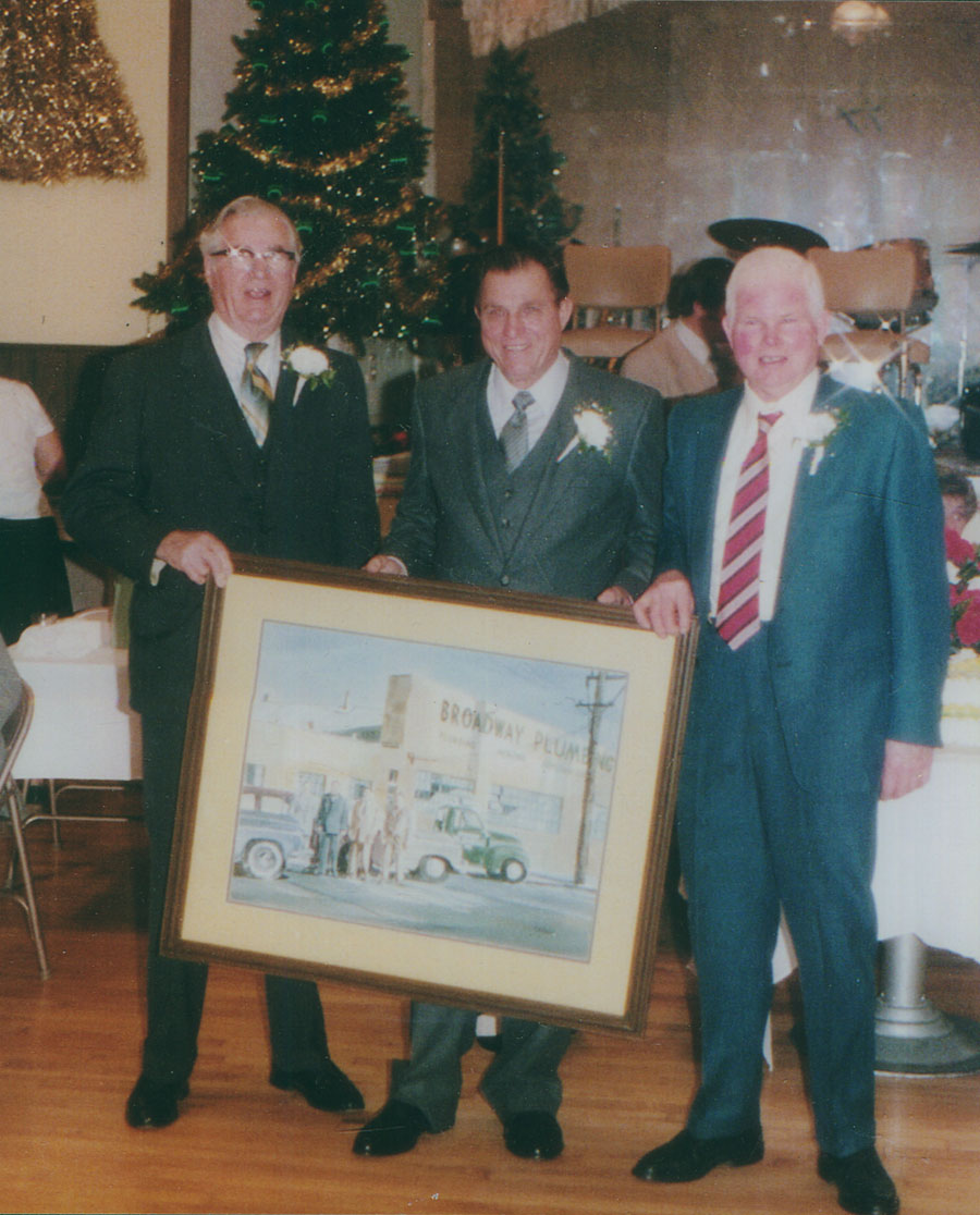 Lawrence, Norman and Charles Nurriso, the original founders and owners of Broadway Plumbing.